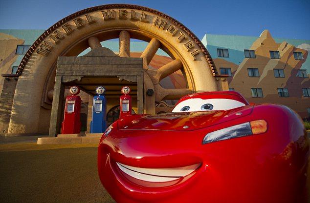 Lightning McQueen at the Wheel Well Motel