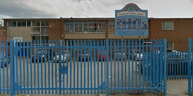 School: The boy lost his finger when he scaled the pointed metal fence to fetch a football during the lunchhour
