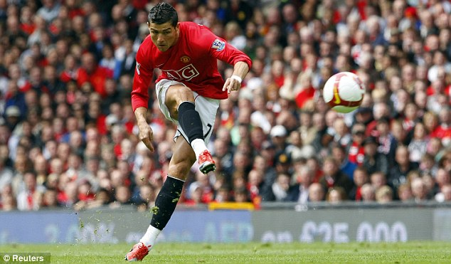 Happy memories: Ronaldo won three league titles and a Champions League with Manchester United