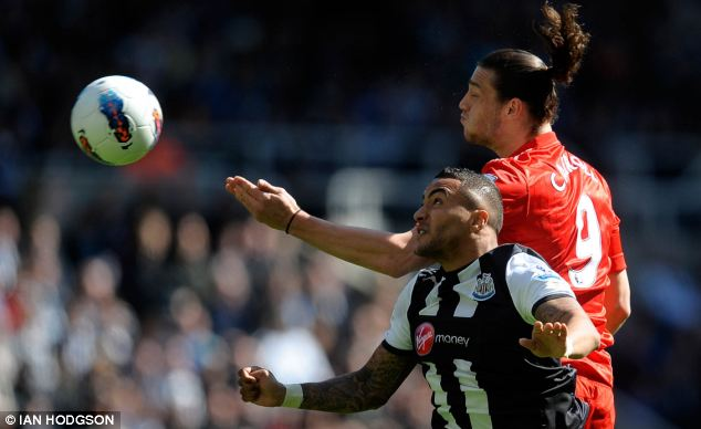 Battler: But Danny Simpson could be on his way out of Newcastle