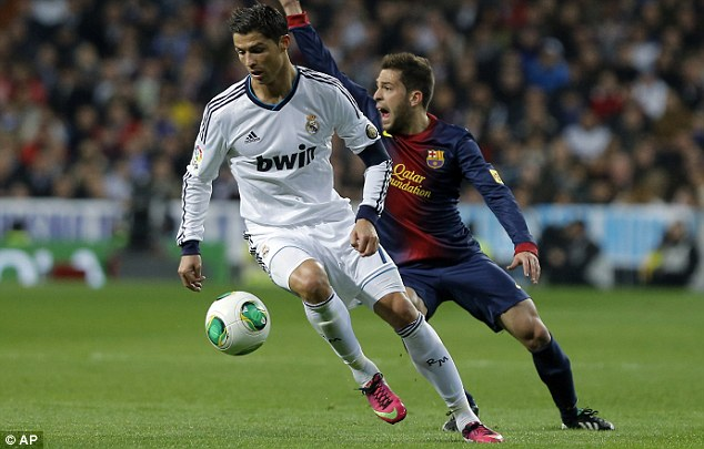 Familiar: Ronaldo will come up against his former side in the mouth-watering Champions League tie