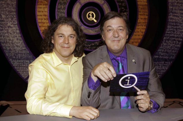 Fry appeared in 189 TV shows, including many QI repeats, in Britain in two weeks over Christmas