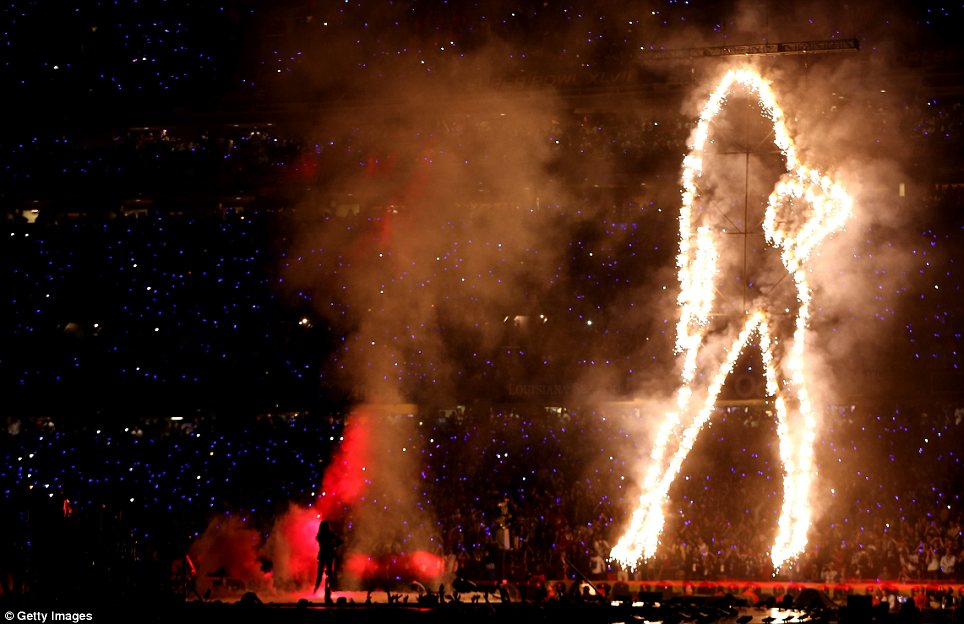 Beyonce to blame? Several fans jokingly blamed the outage on Beyonce's electric - and electricity-intensive - halftime show