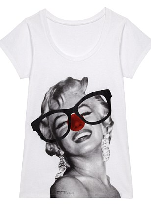 Screen legend Marilyn Monroe was given a hilarious over-sized pair of glasses and, of, course, a red nose, by Stella McCartney
