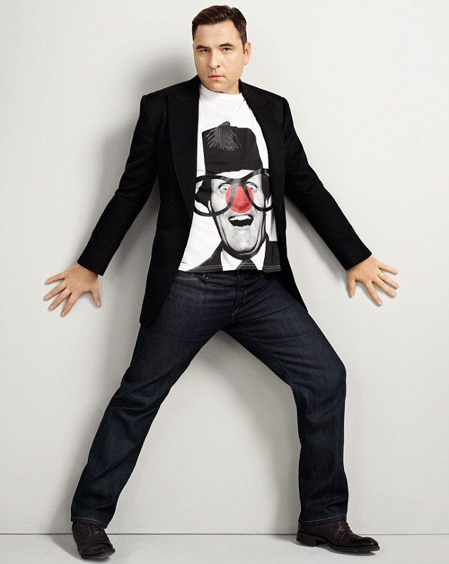 Strike a pose: David Walliams looks sultry as he poses for Comic Relief ahead of Red Nose Day