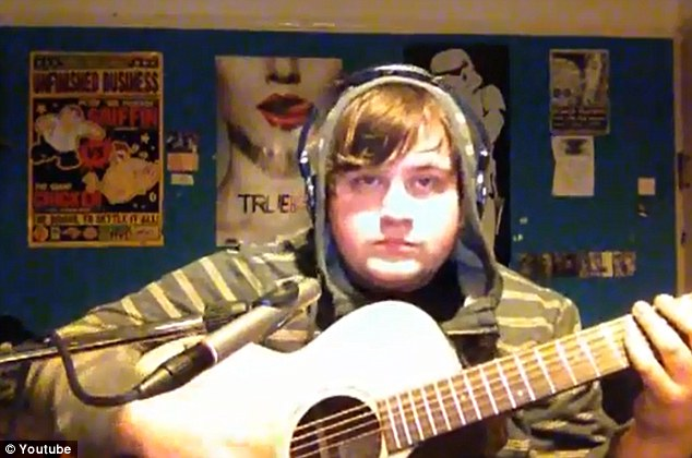 Internet hit: Student James Dalby posted a recording of his acoustic cover of R. Kelly's Ignition on YouTube