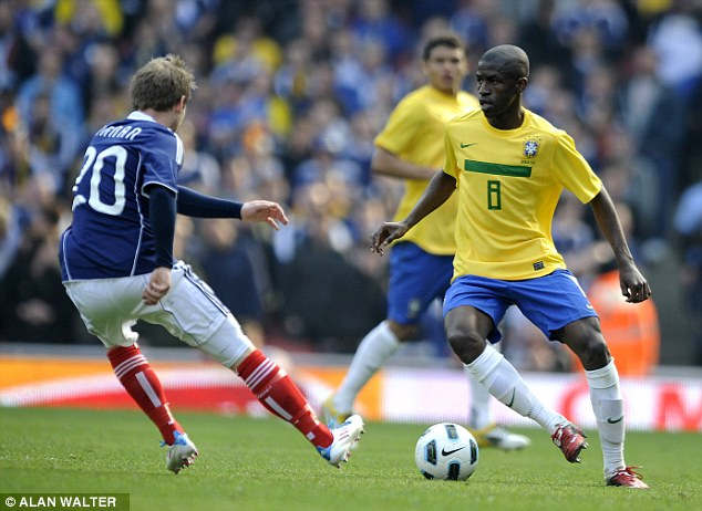 Tireless: Ramires of Chelsea and Brazil, in action here against Scotland at the Emirates Stadium in 2011
