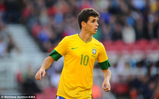Rising star: Oscar, of Chelsea, playing for Brazil at the 2012 London Olympics