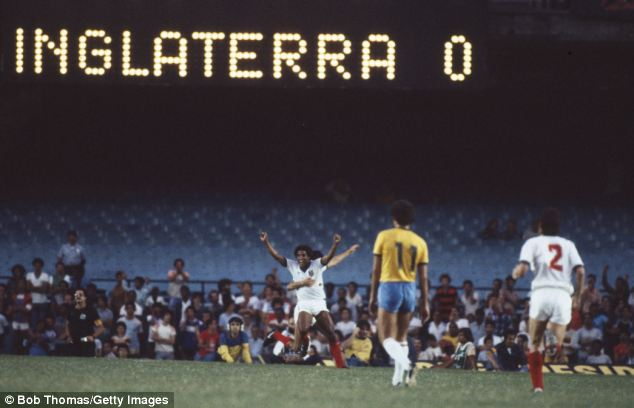 It was only the second time England had ever beaten Brazil