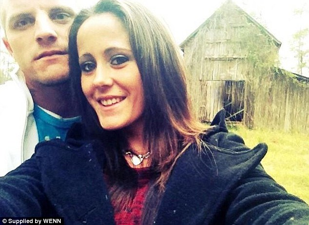Happier times: Courtland Rogers and Jenelle Evans are pictured in a photo tweeted by the Teen Mom star before their marriage imploded