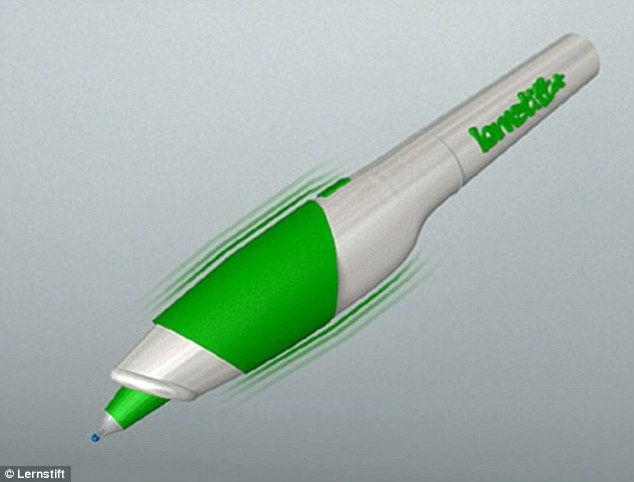 Help at hand for bad spellers: The Lernstift pen vibrates when it detects a spelling or grammar error