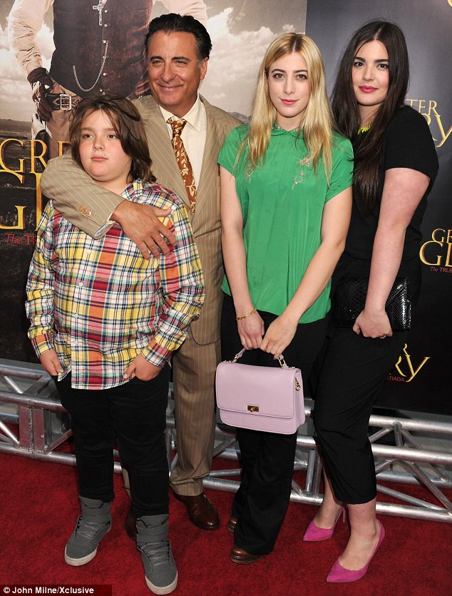 Film family: Andy and Dominik with her siblings Daniella and Andres. The brood also have another sister Alessandra who is not pictured
