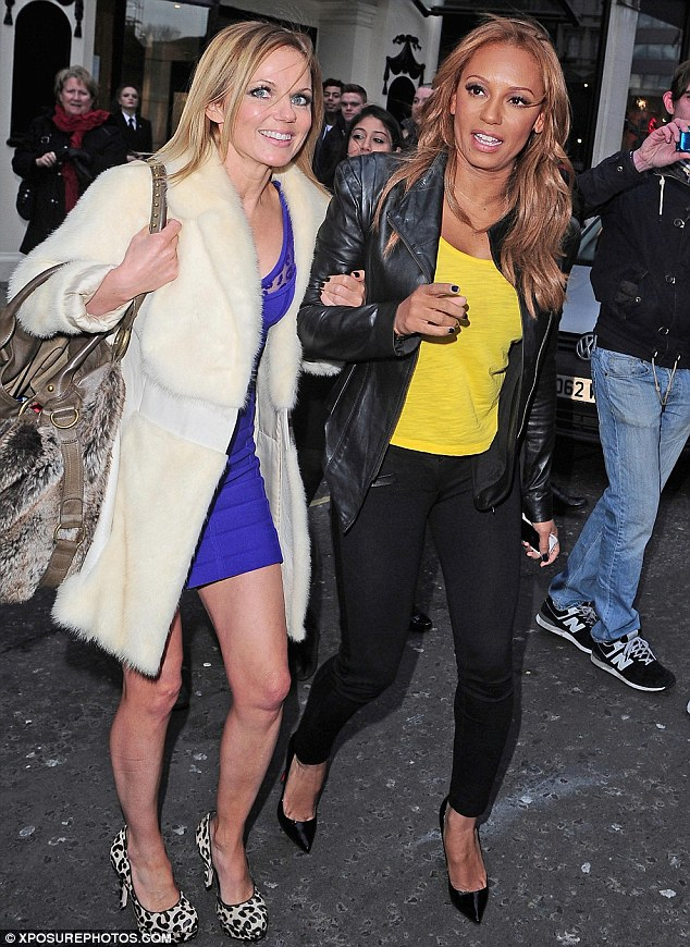 BFFs: Despite their tempestuous past, Geri and Mel B are very much close pals again