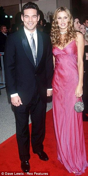 Husband swap: Eddie Cibrian and Brandi Glanville, pictured left in 2000, ended their nine-year marriage in 2010, and he married LeAnn Rimes, right, the following year