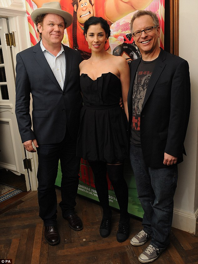 Hollywood comes to Notting Hill: Sarah was joined by fellow Wreck-It Ralph voiceover artists John C. Reilly and Rich Moore