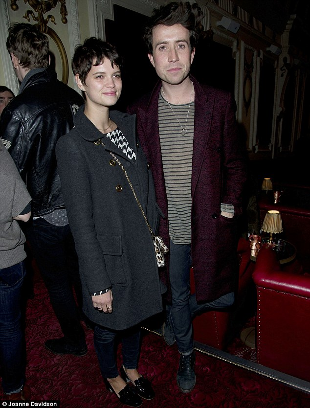 Don't stay up too late Grimmers! Pixie Geldof attended with her best friend Nick Grimshaw