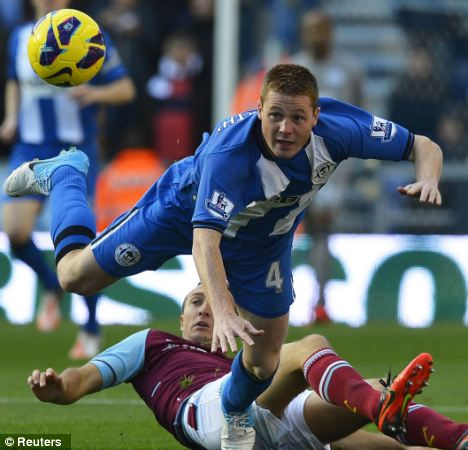 Boost: Wigan kept hold of the 22-year-old James McCarthy during the January transfer window