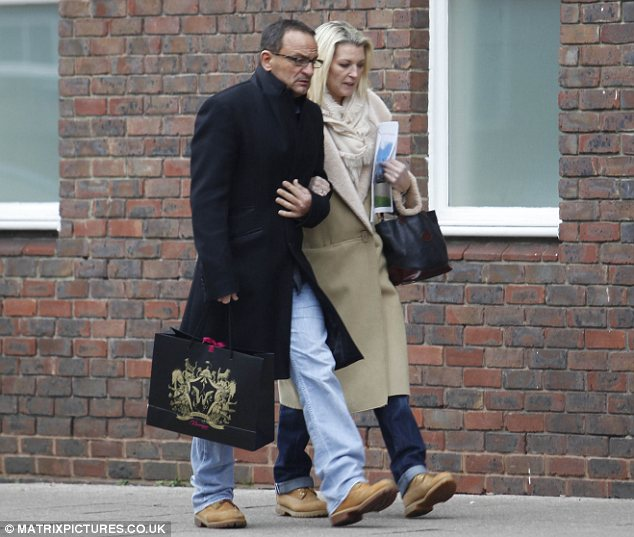 Reunited with her beau: The 57-year-old actress was happy to be reunited with her boyfriend David Fairbirn after her stint in the Big Brother house