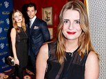 Mischa Barton goes braless in LBD with sheer panels as she parties with David Gandy at drinks party