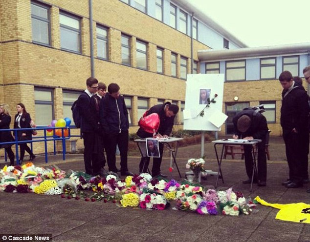 Tributes: Philip was praised by his principal at Bexleyheath Academy as 'one of the most gifted sportsmen in his year' and his fellow students have decided that a quiet area of school grounds should be dedicated to him