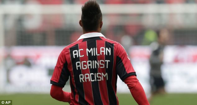 Against Racism: Boateng wore this shirt in his next Milan game