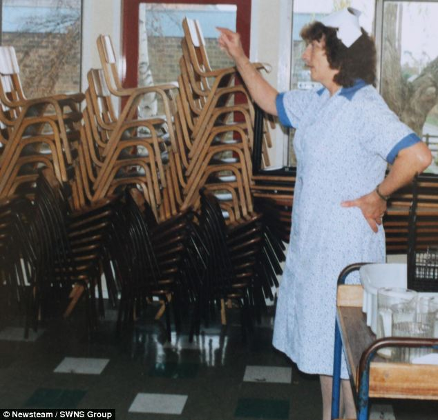 Mrs Barrick, pictured again in 1988, says St Luke's has a 'lovely atmosphere'
