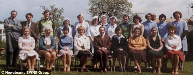 Mrs Barrick is pictured again in the 1970 St Luke's staff photograph