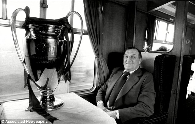 Old friend: Bob Paisley with the European Cup en route to London for the 1978 final
