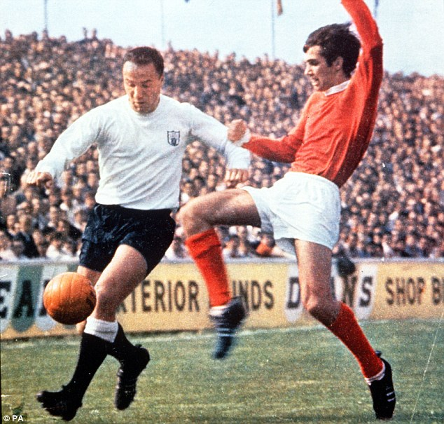 No joy: George Best (right) admitted he very rarely got the better of Fulham's George Cohen