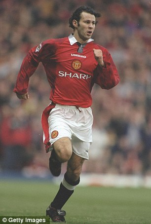 Ryan Giggs in action for Manchester United in about 1997