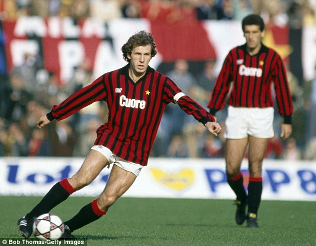 Legend: AC Milan sweeper Franco Baresi spent 20 years with the club