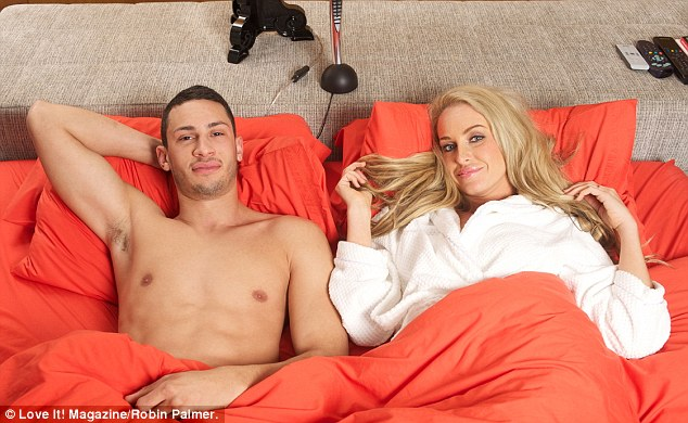 Taking their time: Josie and Luke have revealed they are in no rush to wed