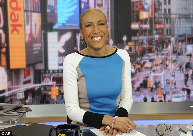 Comeback: Robin Roberts will be back on the job at the Good Morning America anchor desk on February 20 it was announced today - five months to the day since her bone marrow transplant to treat a rare blood disorder