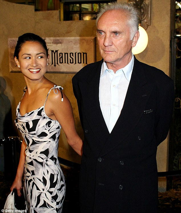 Terence Stamp with his ex-wife Elizabeth O'Rourke in 2003