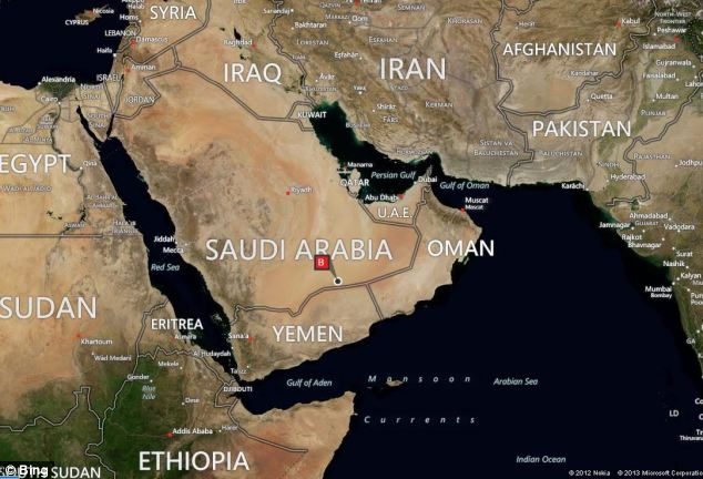 It is located deep in the desert in Saudi Arabia near the border with Yemen, which has been the target of U.S. drone strikes