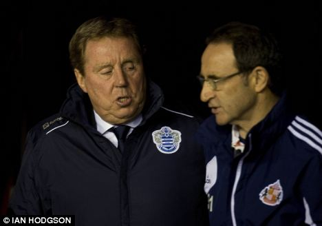 Admirers: Martin O'Neill has been joined by QPR boss harry Redknapp in his praise for Wilshere