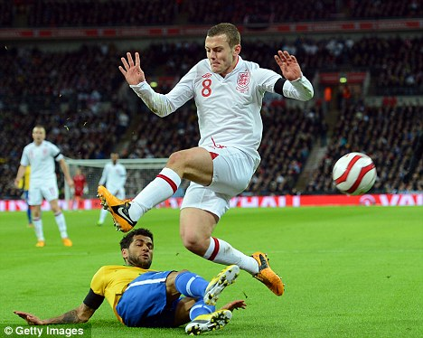 Jack the lad: Jack Wilshere was roundly heralded after his magnificent display against Brazil on Wednesday