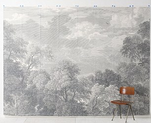 Etched Arcadia mural wallpaper, £218 for 18.5 square metres, Anthropologie, anthropologie.eu