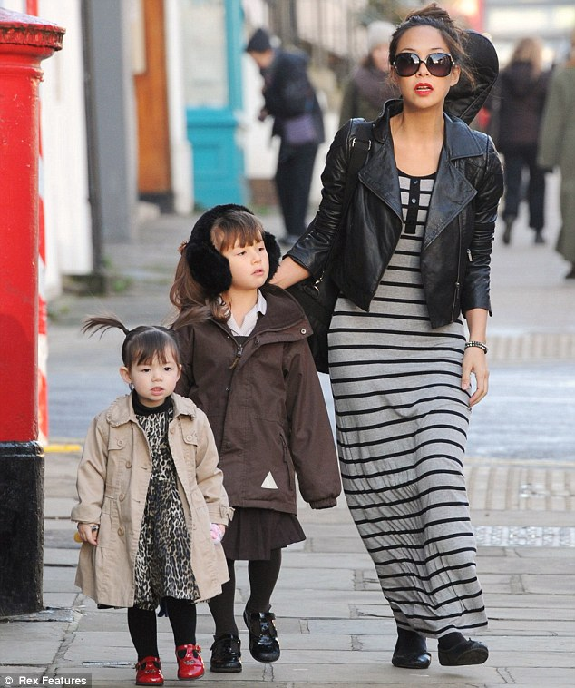 Picture perfect: Myleene really did look like a model mum as she accompanied her gorgeous little girls