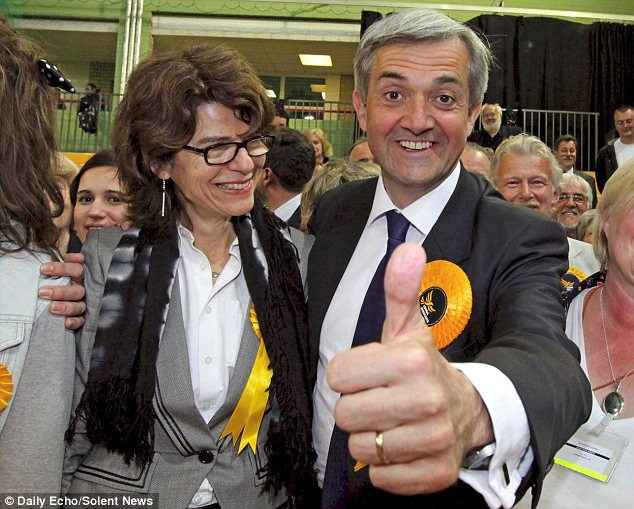 Couple: Huhne and Pryce at the time of his re-election as MP for Eastleigh in 2010