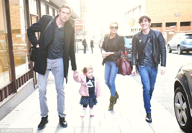 Family affair: The couple were joined by Abbey's footballer brother Sean Clancy