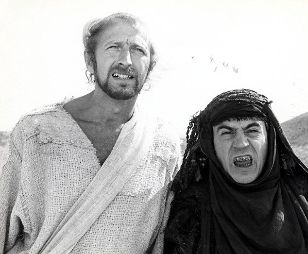 Life-changing moment: Doctors told Graham Chapman, pictured left as Brian next to Terry Jones, he had a year to live if he didn't give up alcohol while he was filming Life Of Brian