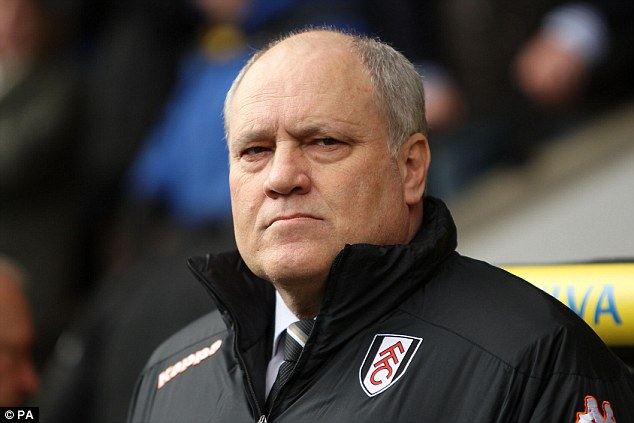Point made: Fulham's Martin Jol was perhaps the happier of the two managers