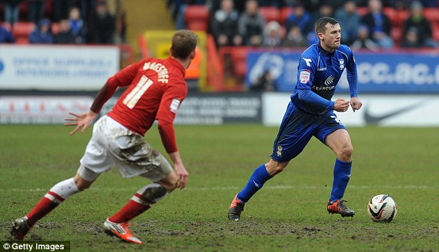Regular: Chris Powell's Charlton side once again surrendered a lead late on