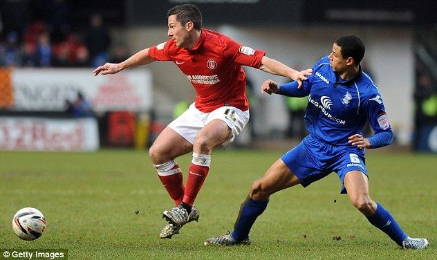 Lead: Charlton were on course for three points when Yann Kermorgant (left) put them ahead in the 88th minute