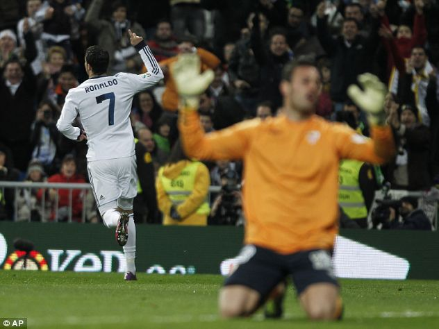 On target: Ronaldo