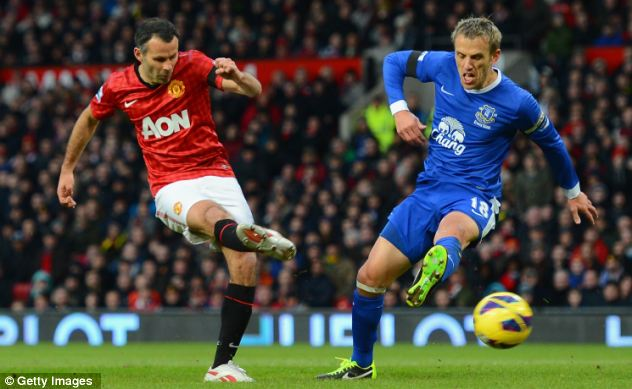 Golden Giggs: Manchester United's long-serving midfielder has now scored in all 23 Premier League seasons