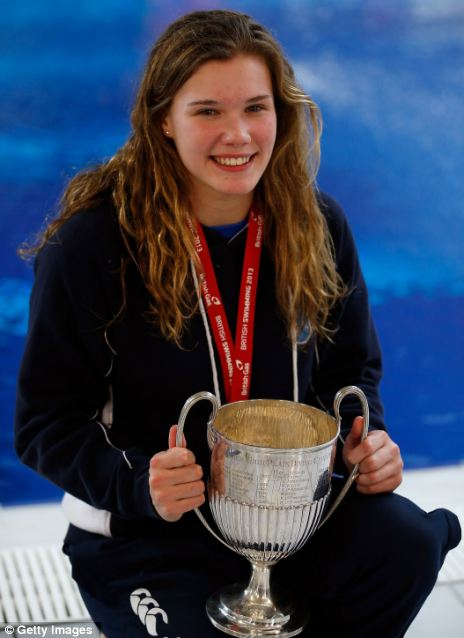 First title: Grace Reid, 16, poses with her trophy