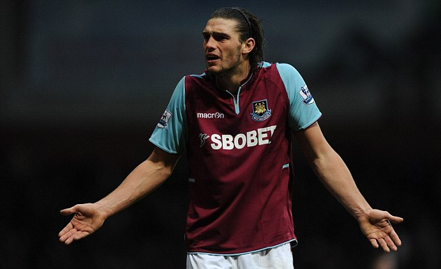 Main threat: West Ham will rely on their on-loan striker Andy Carroll in attack