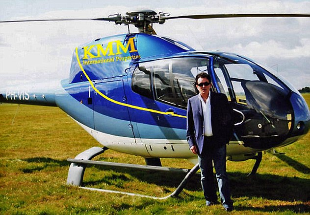 High flyer: A helicopter in the livery of McGeever's KMM International
